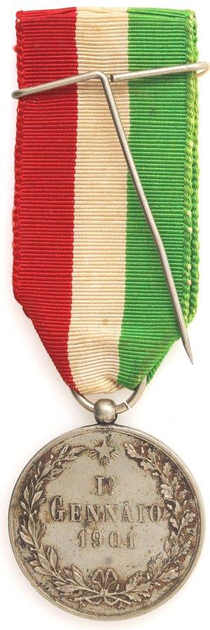 reverse: San Cataldo. Medaglia Società Operaia. 1901. Ag.
