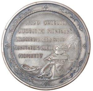 reverse: Medaglia 1924. Metallo argentato. Conferita a Aldo Oviglio,