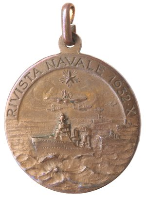 reverse: Medaglie. Taranto. 1932 X. Ae. Rivista navale.