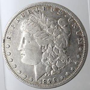 obverse: Monete Estere. Usa. Dollaro Morgan 1886 O. Ag. 900. Peso gr. 26,40. qBB.