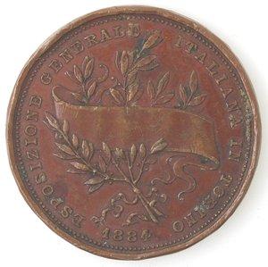 obverse: Medaglie. Torino. Esposizione generale Italiana in Torino 1884. AE.