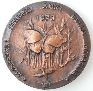 obverse: Medaglie. Associazione Italiana Amici della Medaglia. Medaglia 1973. Br.