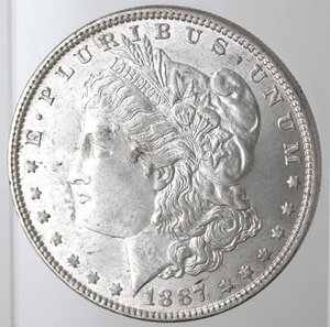 obverse: Usa. Dollaro Morgan 1887. Ag. 900.
