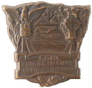 obverse: Medaglie. Distintivo. FGNI. Concorso Ginnastico Como. Sett 1920. MB.