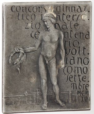 obverse: Medaglie. Distintivo. Concorso Ginnastico intersezionale Voltoliano Como. 1923. MB.