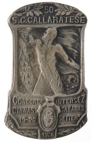 obverse: Medaglie. Distintivo. Concorso Ginnastico intersezionale Gallaratese. 19/20 sett. 1923. MB.