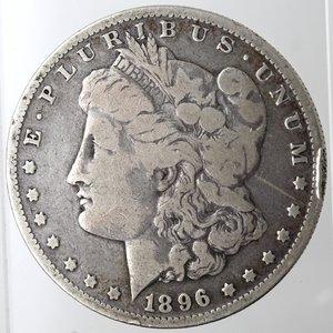 obverse: Usa. Dollaro Morgan 1896 O. Ag. 900. Peso gr. 26,03. MB.