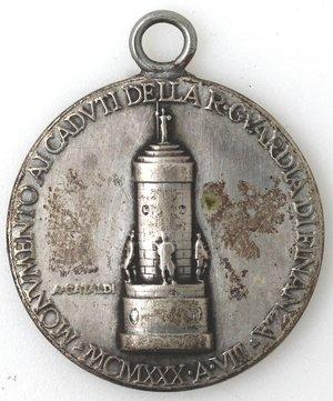 obverse: Medaglie fasciste. Medaglia. 1930 A. VIII. Ae Argentato.