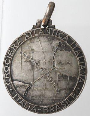 obverse: Medaglie fasciste. Medaglia Italo Balbo. A. IX. Rame Argentato?. Per la crociera Atlantica Italiana Italia-Brasile.