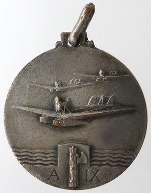 reverse: Medaglie fasciste. Medaglia Italo Balbo. A. IX. Rame Argentato?. Per la crociera Atlantica Italiana Italia-Brasile.