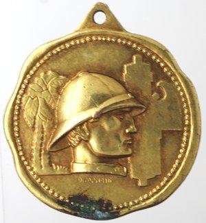 obverse: Medaglie fasciste. Medaglia Napoli. 1934. A. XII. I Raduno ex combattenti coloniali. Napoli 15 dicem  1934 XIIF. Ae. Dorato.