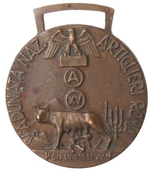 obverse: Medaglie fasciste. Roma. Medaglia 1937 A. XV. Ae.