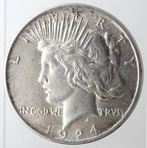 obverse: Usa. Dollaro Peace 1924. Ag. 900.