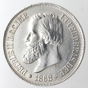 obverse: Brasile. 500 Reis 1868.Ag 835.