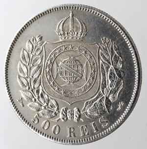 reverse: Brasile. 500 Reis 1868.Ag 835.