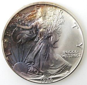 reverse: Usa. Dollaro Liberty 1986. Ag. 900.