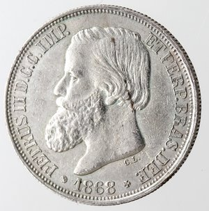 obverse: Brasile. 200 Reis 1868.Ag 835.
