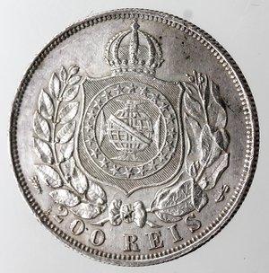 reverse: Brasile. 200 Reis 1868.Ag 835.