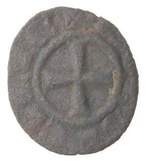 obverse: Messina. Federico II. 1197-1250. Denaro. Mi.