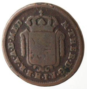 obverse: Milano. Maria Teresa. Mezzo Soldo 1777. Ae.