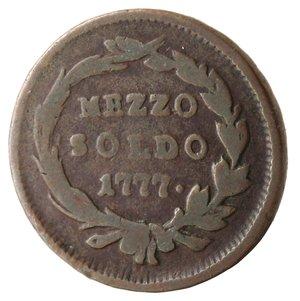 reverse: Milano. Maria Teresa. Mezzo Soldo 1777. Ae.
