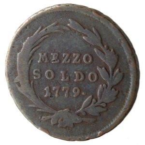 reverse: Milano. Maria Teresa. Mezzo Soldo 1779. Ae.