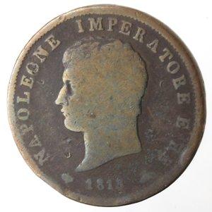 obverse: Milano. Napoleone. Soldo 1813. Ae.