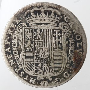 obverse: Napoli. Carlo II. Tarì 1684. Ag.