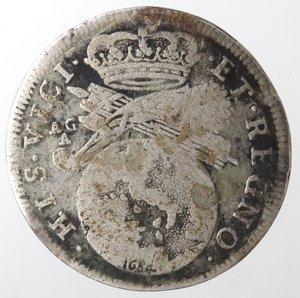 reverse: Napoli. Carlo II. Tarì 1684. Ag.