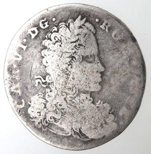 obverse: Napoli. Carlo VI. 1711-1734. Tarì 1716. Ag.