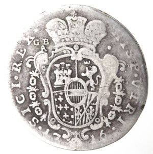 reverse: Napoli. Carlo VI. 1711-1734. Tarì 1716. Ag.