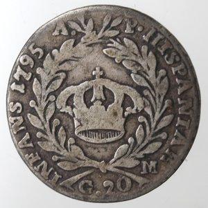 reverse: Napoli. Ferdinando IV. Tarì 1795. Ag.