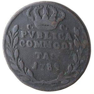 reverse: Napoli. Ferdinando IV. Pubblica 1789. Ae.