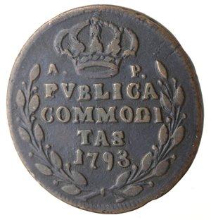 reverse: Napoli. Ferdinando IV. Pubblica 1793. Ae.