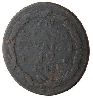 reverse: Napoli. Ferdinando IV. 1 Grano Cavalli 12 1788. Ae.
