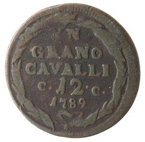 reverse: Napoli. Ferdinando IV. 1 Grano Cavalli 12 1789.