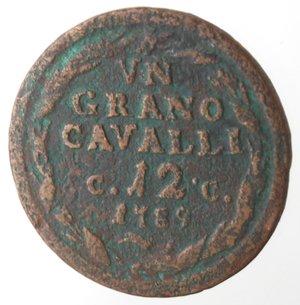 reverse: Napoli. Ferdinando IV. 1 Grano Cavalli 12 1789. Ae.