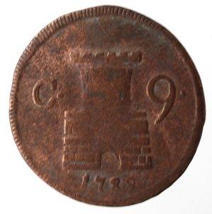 reverse: Napoli. Ferdinando IV. 9 Cavalli 1789. Ae.