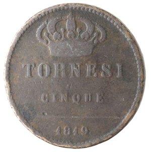 reverse: Napoli. Ferdinando I. 5 Tornesi 1819. Ae.