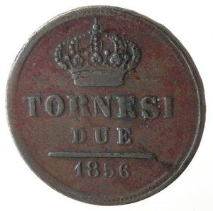 reverse: Napoli. Ferdinando II. 2 Tornesi 1856. Ae. MB.