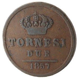 reverse: Napoli. Ferdinando II. 2 Tornesi 1857. Ae.