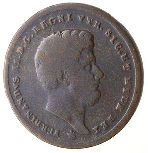 obverse: Napoli. Ferdinando II. 2 Tornesi 1858. Ae.