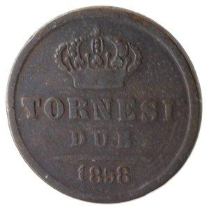 reverse: Napoli. Ferdinando II. 2 Tornesi 1858. Ae.