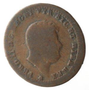 obverse: Napoli. Ferdinando II. Mezzo Tornese 1848. Ae.