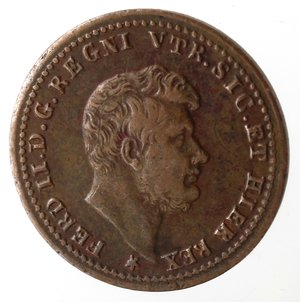 obverse: Napoli. Ferdinando II. Mezzo Tornese 1851. Ae.