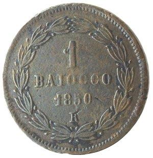 reverse: Roma. Pio IX. Baiocco 1850 An V. Ae.