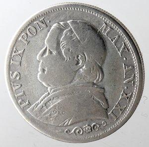 obverse: Roma. Pio IX. Lira 1866 An XXI. Ag.