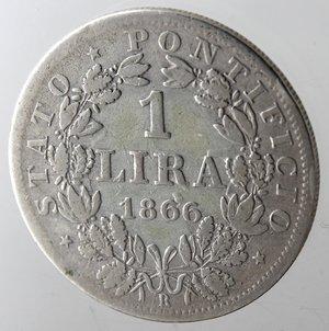 reverse: Roma. Pio IX. Lira 1866 An XXI. Ag.