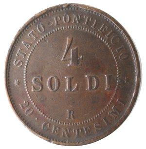 reverse: Roma. Pio IX. 4 Soldi 1866 An XXI. Ae.
