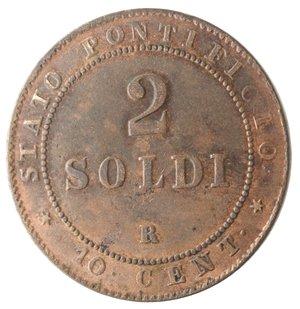 reverse: Roma. Pio IX. 2 Soldi 1867 An XXI. Ae.